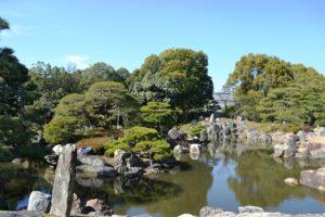 Jardin du palais Ninomaru du château de Nijo
