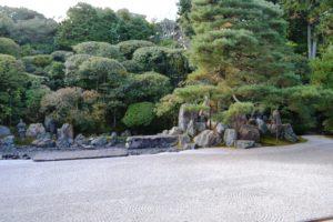 île grue dans le jardin du temple Konchi-in
