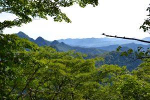 Monts Daifugendake, Kofugendake et Nihondake, de gauche à droite