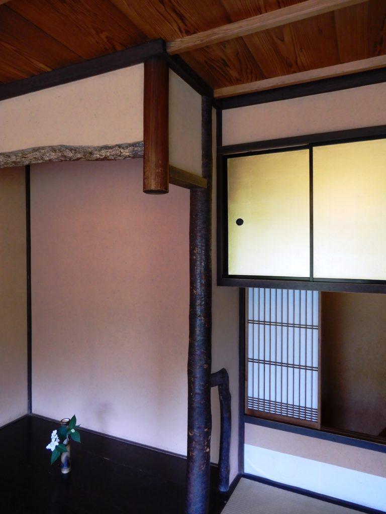Colonne décorative en bois du cerisier d'alcôve
