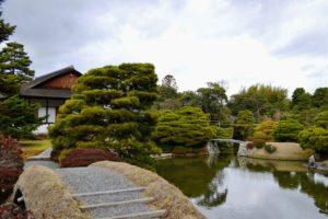 Pont depuis le pavillon de thé, Shoka-tei