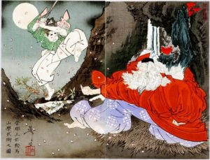 Yoshitsune et Tengu